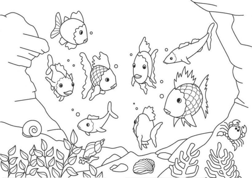 Tranh vẽ tập tô phong cảnh biển đẹp cho bé tô màu (1)