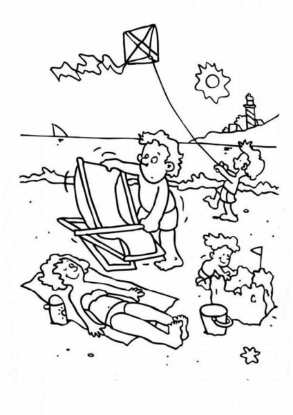 Tranh vẽ tập tô phong cảnh biển đẹp cho bé tô màu (3)