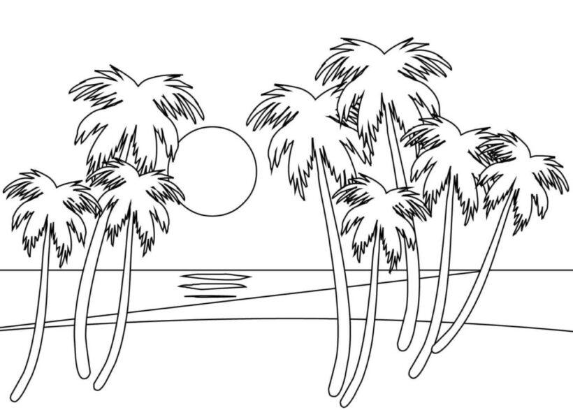 Tranh vẽ tập tô phong cảnh biển đẹp cho bé tô màu (5)