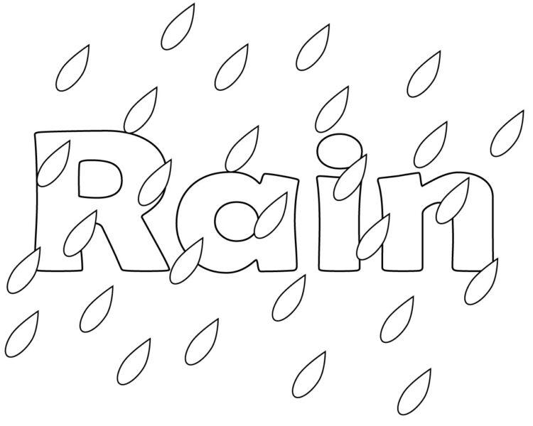 Tranh vẽ trời mưa