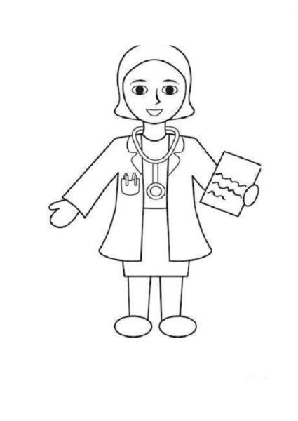 Vẽ bác sĩ đơn giản