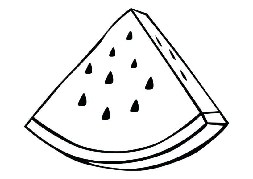Vẽ miếng dưa hấu