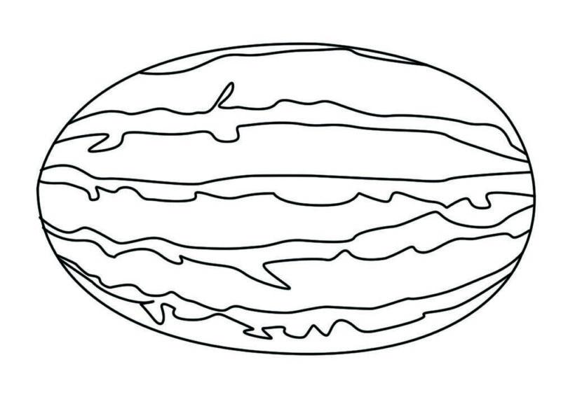 Vẽ quả dưa hấu đơn giản