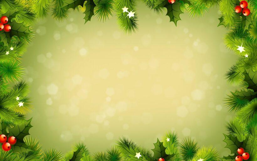 Ảnh nền Powerpoint màu xanh lá cây về Noel