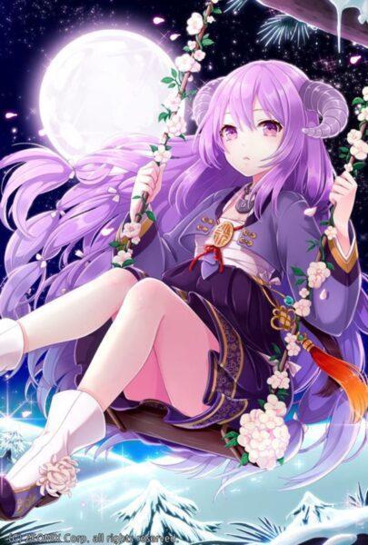 Anime nữ tóc tím