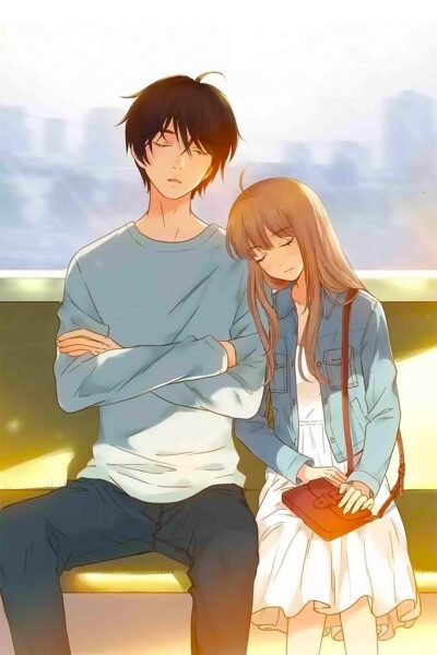 Hình ảnh Anime đôi đang ngủ cùng nhau