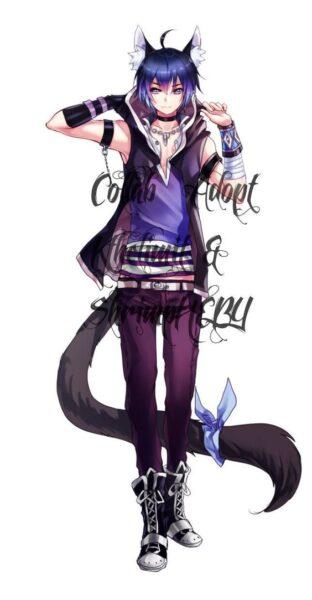 hình ảnh anime mèo nam ngầu chất