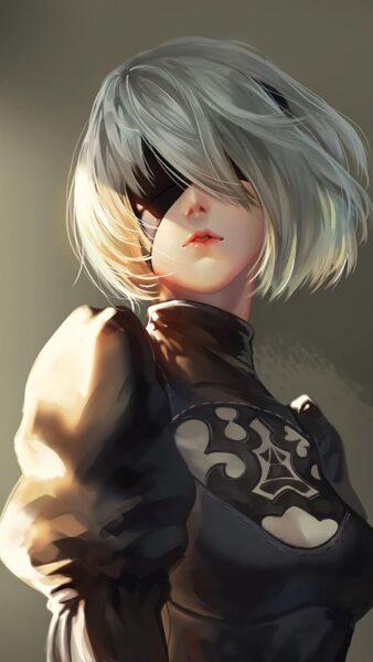 hình ảnh anime nữ ngầu chất che mặt
