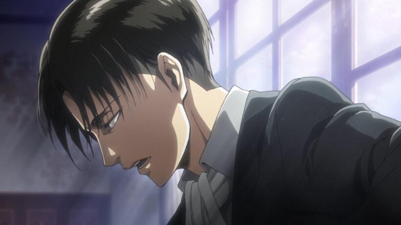 Hình ảnh anime tóc đen cool ngầu của Levi