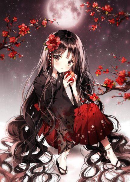 Hình ảnh anime tóc đen ngầu