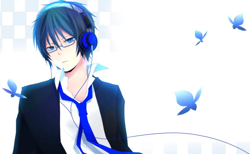 Hình ảnh anime tóc xanh boy lạnh lùng