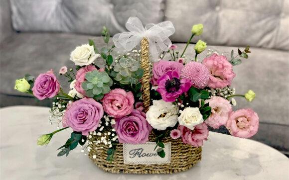 hình ảnh lẵng hoa đẹp