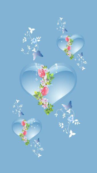 Hình ảnh trái tim màu xanh