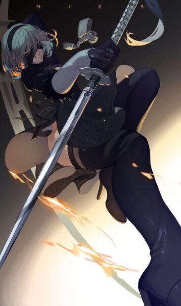 hình anime nữ ngầu chất bịt mặt
