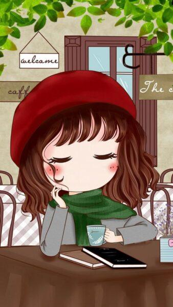 Hình nền hoạt hình bé gái xinh đẹp, dễ thương
