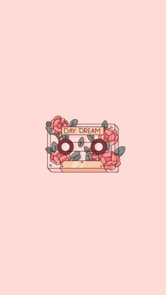 hình nền màu hồng day dream dễ thương cho con gái