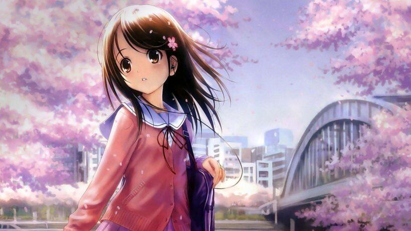 Hình nền màu hồng dễ thương, ảnh anime