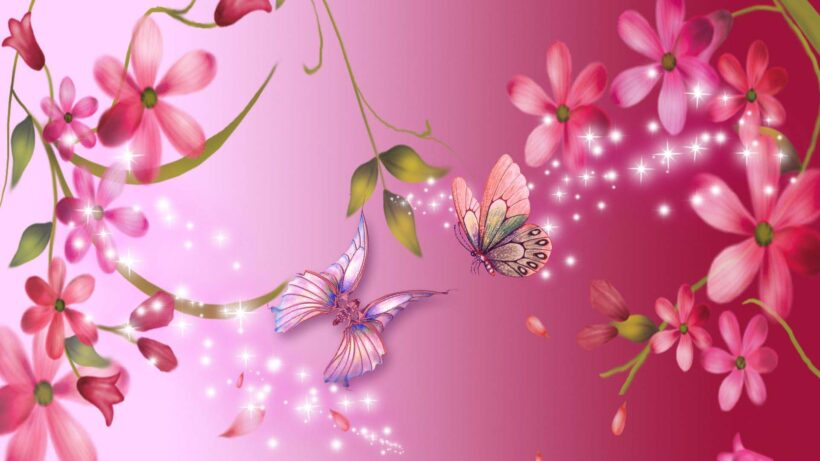 Hình nền màu hồng dễ thương, cực đẹp