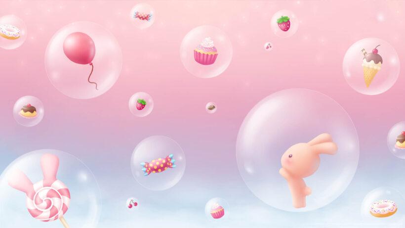 Hình nền màu hồng dễ thương, ngọt ngào