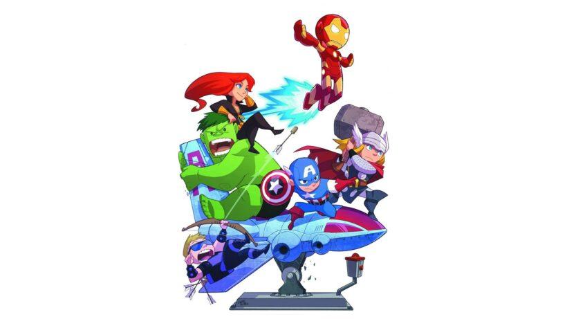 Hình nền máy tính chibi avenger
