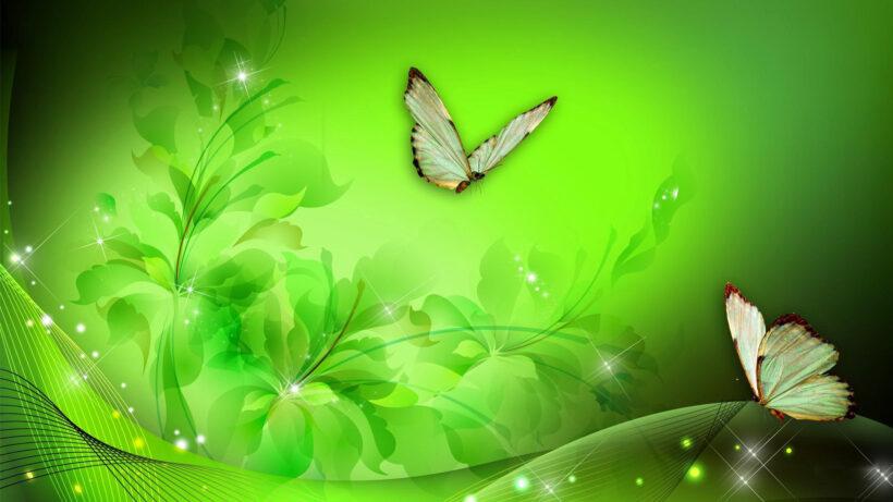 Hình nền Powerpoint màu xanh lá cây dễ thương nhất