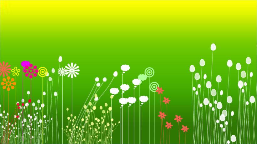 Hình nền Powerpoint màu xanh lá cây đẹp, nhẹ nhàng
