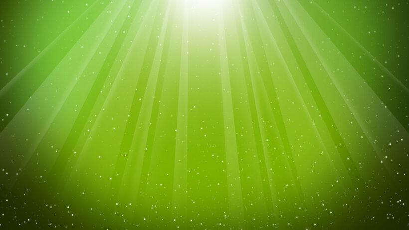 Hình nền Powerpoint màu xanh lá cây sinh động