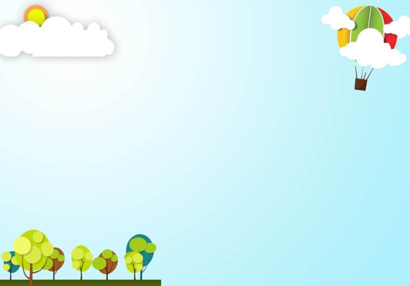 hình nền powerpoint nền hoạt hình bầu trời xanh thiên nhiên