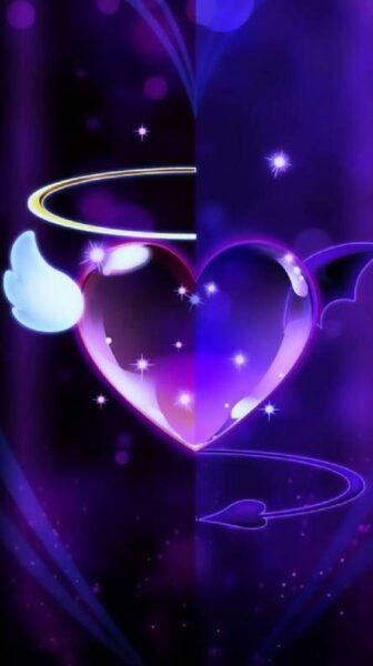 hình nền trái tim đẹp lung linh