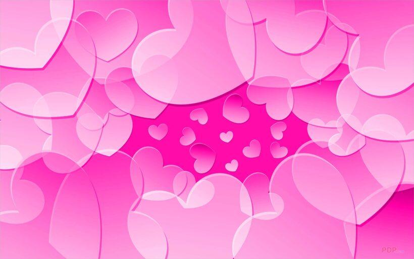 Hình nền trái tim màu hồng dễ thương