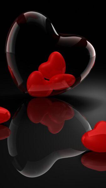 Hình nền trái tim rực rỡ cho điện thoại