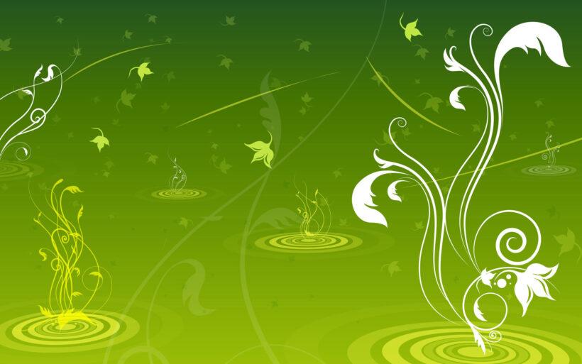 Mẫu hình nền Powerpoint màu xanh lá cây