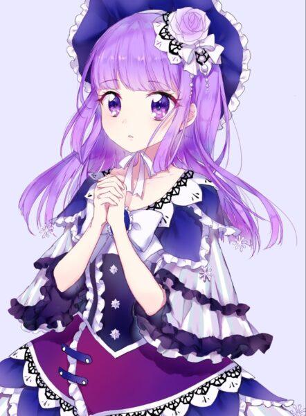 Nhân vật anime tóc tím