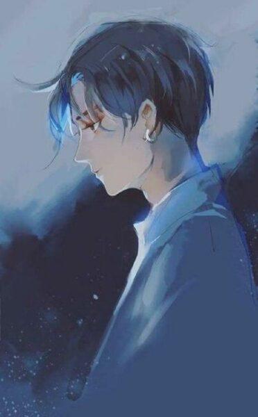 Ảnh anime nam làm quotes buồn đẹp