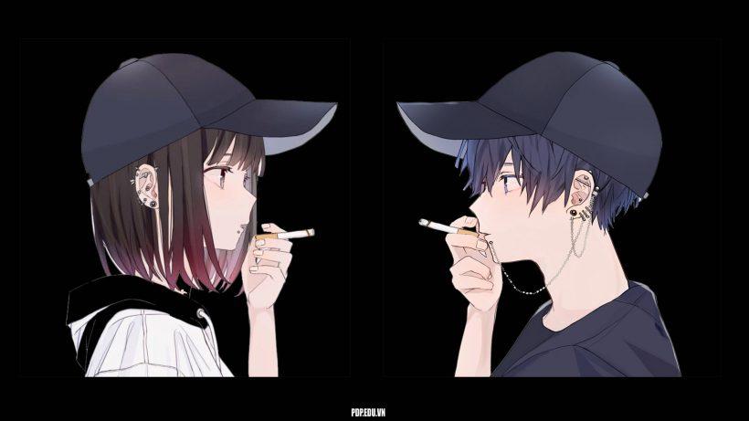 ảnh avatar cặp đen
