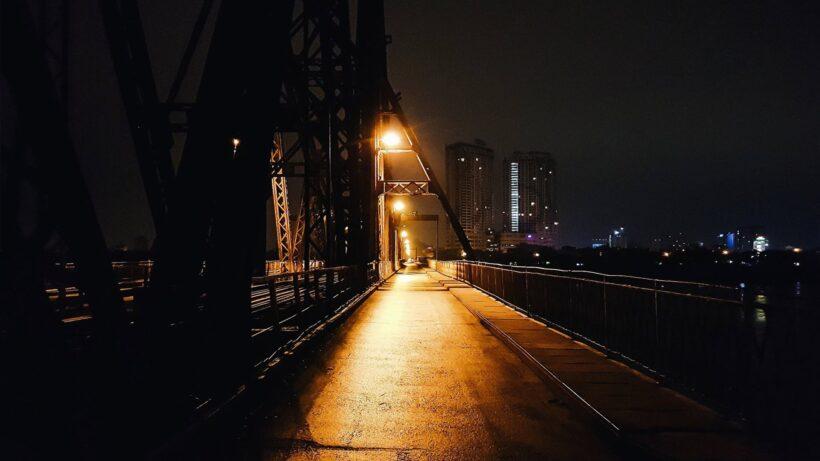 Ảnh cầu Long Biên Hà Nội về đêm
