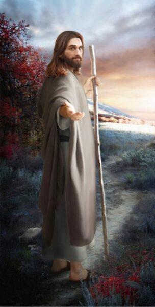 Ảnh chúa Giesu và cây gậy
