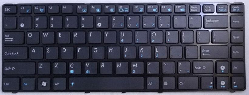 ảnh chụp bàn phím máy tính mỏng nhỏ gọn