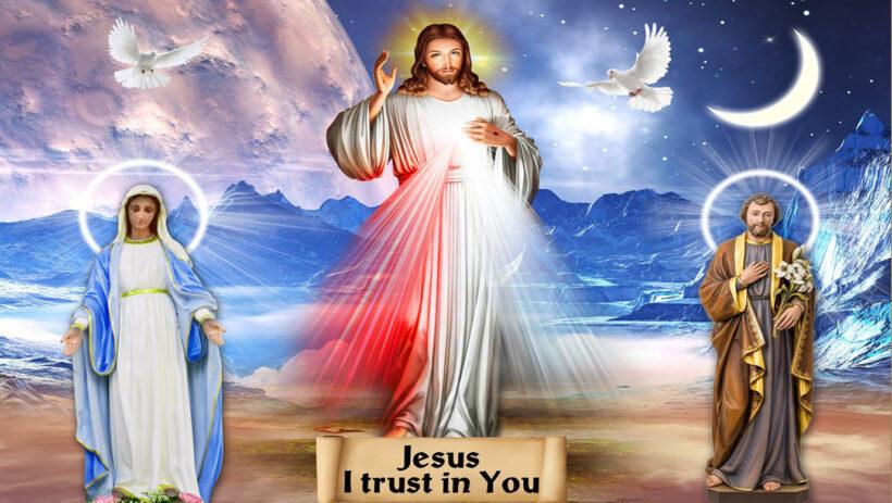 Ảnh nền thiên chúa và cha, mẹ của người