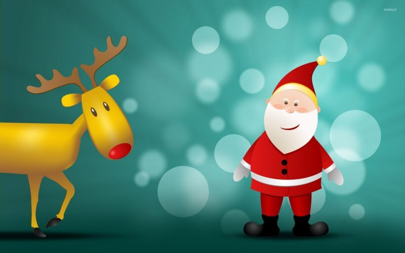 Ảnh ngộ nghĩnh về ông già Noel con tuần lộc