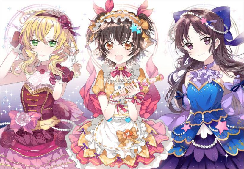 ảnh nhóm anime 3 cô gái xinh đẹp