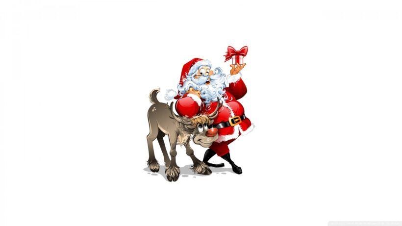 Ảnh ông già Noel và con tuần lộc