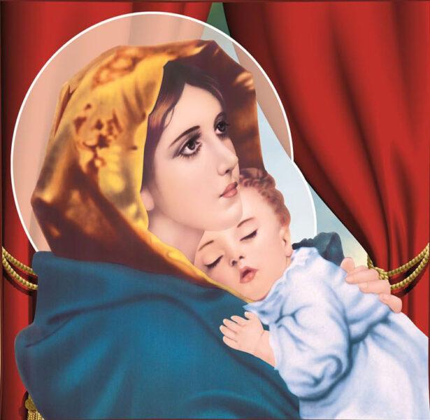 Ảnh thiên chúa trong vòng tay của Đức Mẹ