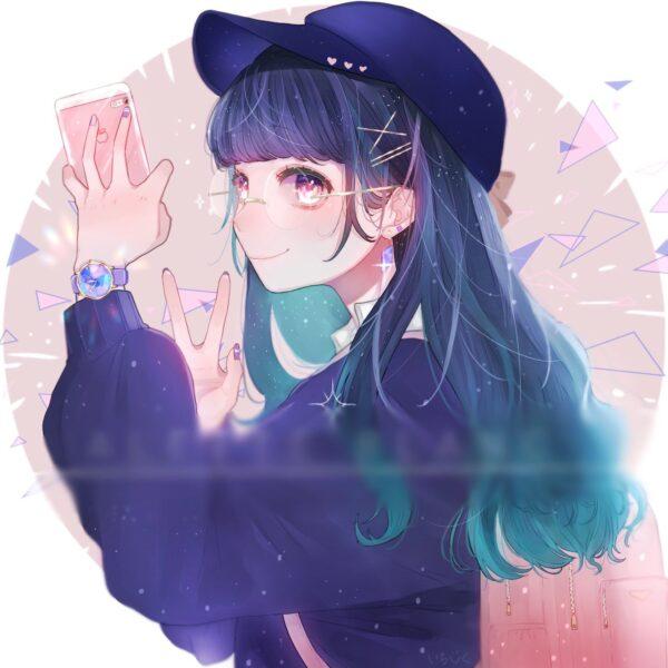 Anime girl làm ảnh đại diện cho con gái