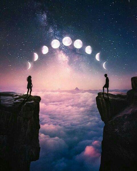 Avatar cặp đen dành cho hai người yêu nhau ở xa