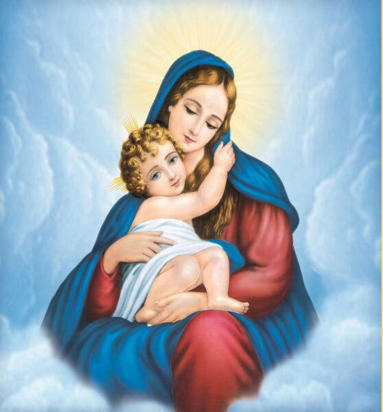 Chúa Giesu được mẹ bế