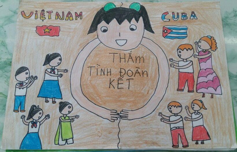 Cuộc thi vẽ tranh Việt nam - Cuba thắm tình đoàn kết