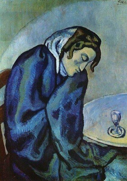 Drunk woman is tired (Femme ivre se fatigue)
