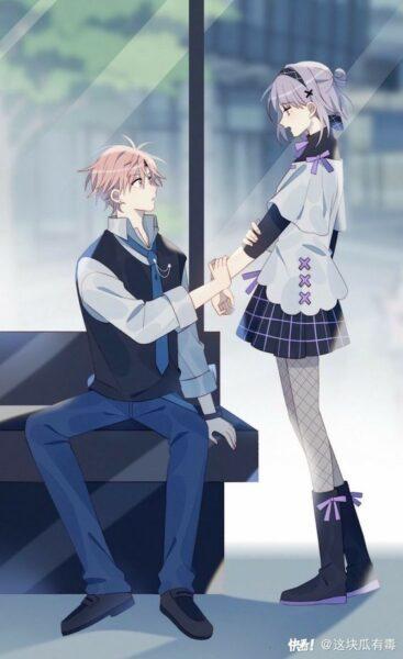 hình ảnh anime cặp đôi yêu nhau dễ thương