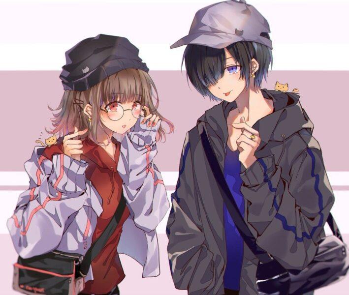 hình ảnh anime cặp đôi yêu nhau ngầu
